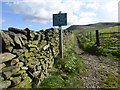 SK0585 : Peak & Northern Footpaths Society sign #33 by Graham Hogg