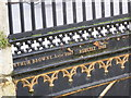 TL4458 : Inscription on the bridge by Bob Harvey