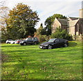 SO3417 : St David's church car park, Llanddewi Skirrid by Jaggery