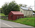 SO3617 : Corrugated metal building in Caggle Street near Llanvetherine by Jaggery
