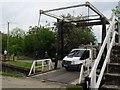 SJ2741 : Bascule bridge and footbridge below Froncysyllte (2) by Stephen Craven