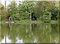 ST6462 : Hunstrete lake in reflection by Neil Owen