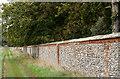 TF8642 : Wall alongside West Lane by Trevor Littlewood