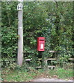 SK0425 : Elizabeth II postbox on Newton Hurst Lane, Dapple Heath by JThomas
