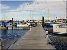 SY6874 : End section of Pier M, Portland Marina by Robin Stott