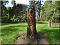 NS3983 : Carved tree stump in Balloch Park by Lairich Rig