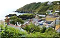 SW7214 : View of the harbour from an un-named lane off Barn Hill, Cadgwith by Derek Voller