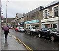 ST0291 : Rainy morning, Hannah Street, Porth by Jaggery