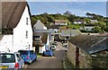 SW7214 : The road through the pretty fishing village of Cadgwith, Cornwall by Derek Voller