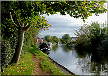 SJ9214 : Canal at Penkridge in Staffordshire by Roger  Kidd