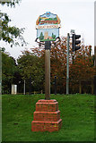 TL1351 : Great Barford Village Sign by Ian S