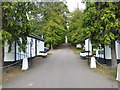 TQ2798 : The entrance lodges to West Lodge Hotel by Marathon