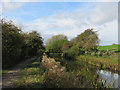 SK4841 : Cossall: footbridge over the Nottingham Canal by John Sutton