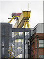 J3575 : Hotel and crane, Belfast by Rossographer