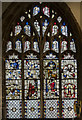 TF4250 : Medieval Stained glass window, Ss Mary & Nicholas church, Wrangle by Julian P Guffogg