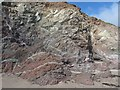 SW7316 : Rock formations at Kennack Sands, Cornwall by Derek Voller