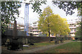 TQ3282 : Autumn in Bunhill Fields - The North West Corner by Chris Reynolds