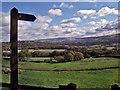 SJ9793 : Footpath across Lowend Farm land by Stephen Burton