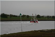 """TF3839 : """"IH3 Lady K"""" cockling boat running home on a high tide (1) by Chris"""