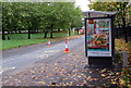 ST3188 : Jamaican Chicken advert, Malpas Road, Crindau, Newport by Jaggery