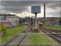 SD8022 : Water Tower at Rawtenstall Station by David Dixon