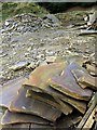 NY9555 : Sandstone offcuts, Ladycross Bank Quarry by Andrew Curtis
