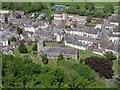 SJ0743 : A bird's eye view of Corwen parish church by Stephen Craven