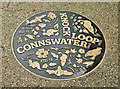 J3673 : Connswater ground plaque, The Hollow, Belfast (October 2017) by Albert Bridge
