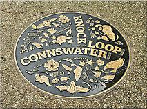 J3673 : Connswater ground plaque, The Hollow, Belfast (October 2017) by Albert Bridge