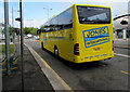 ST3088 : Yellow coach, Queensway, Newport by Jaggery