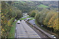 ST2489 : A467 approaching roundabout with B4591, Pontymister by M J Roscoe