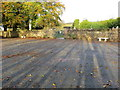 R8027 : Car park at and entrance to Galbally Graveyard by Peter Wood