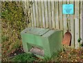 NT4831 : Grit bin with shovel, Lindean by Jim Barton
