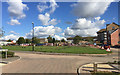 SP3682 : Open space amid redevelopment, Wood End, north Coventry by Robin Stott