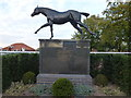 TL6262 : Bronze statue of the racehorse Eclipse by Richard Humphrey