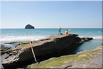 SX0486 : RNLI Lifeguards Trebarwith Strand by Nigel Mykura