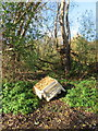 SJ4065 : Fly-tipping by the River Dee by John S Turner
