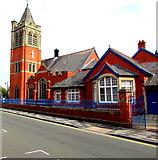 SJ3350 : Trinity Presbyterian Church of Wales church and hall, Wrexham by Jaggery