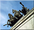 TQ2879 : Detail of Wellington Arch by Stephen Richards