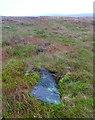 SD9717 : Recumbent boundary stone (#5) on Blackstone Edge Moor by Humphrey Bolton