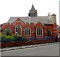 SJ3350 : Rhosddu Road side of Trinity Presbyterian Church of Wales church, Wrexham by Jaggery