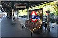 TQ1882 : Platform at Hanger Lane Station by Des Blenkinsopp