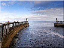 NZ8911 : Whitby West Pier Extension by David Dixon