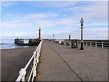 NZ8911 : Whitby West Pier by David Dixon