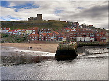 NZ8911 : Whitby Harbour, Tate Hill Pier by David Dixon