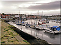 NZ9010 : River Esk, Moorings at Whitby Harbour by David Dixon