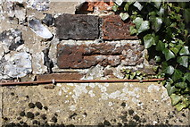 SU6787 : Old benchmark on The Crown beside A4130 at Nuffield by Roger Templeman