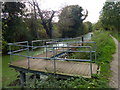 SK8934 : Pontoon along the Grantham Canal by Mat Fascione