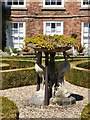 SJ0478 : Sculpture in the parterre by Gerald England