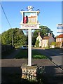 TG0536 : Thornage Village Sign by G Laird